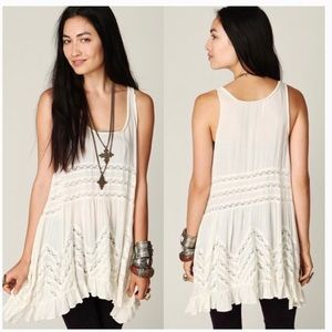 Free People Voile Lace Trapeze Dress L